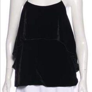 Alive & Olivia black velvet halter top